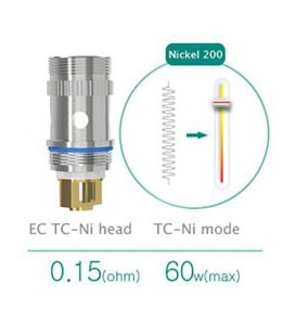 Résistance Nickel 0.15 ohm pour Melo 2 Eleaf EC TC