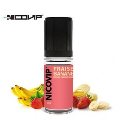 Fraise Banane e-Liquide Nicovip, eliquide français pas cher gout fraise banane