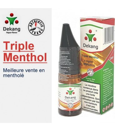 Triple Menthe e-Liquide Dekang Silver Label, e liquide pas cher