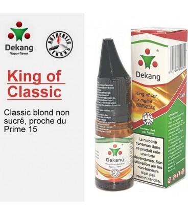 King of Classic e-Liquide Dekang Silver Label, e liquide pas cher