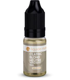 e-Liquide 10 ml Classic Blond Neutre E-Liquide Mania