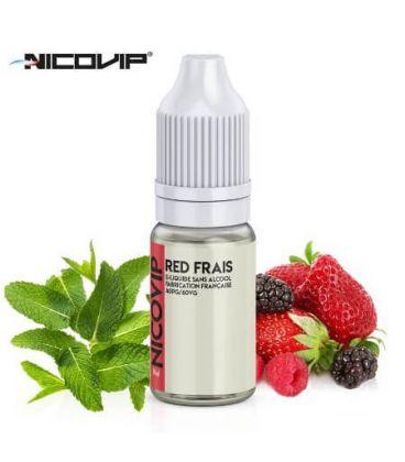 Red Frais e-Liquide Nicovip 10 ml, eliquide français pas cher